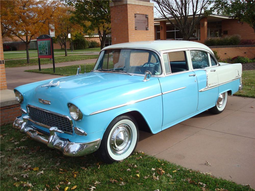 1955 chevrolet bel air 4 door sedan 82191