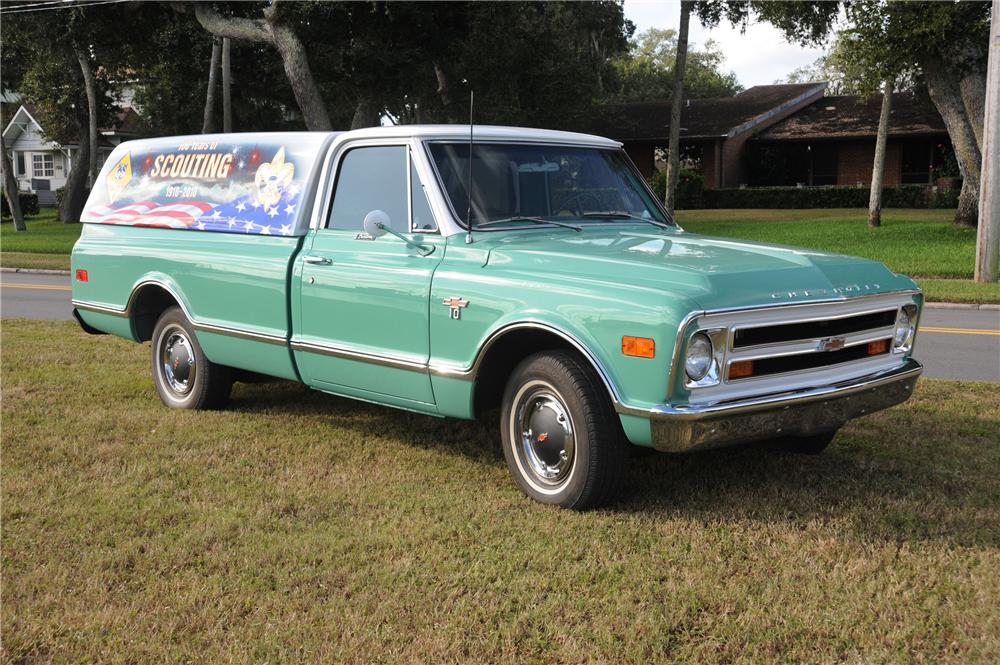 1968 CHEVROLET CUSTOM LWB PICKUP - Front 3/4 - 82193