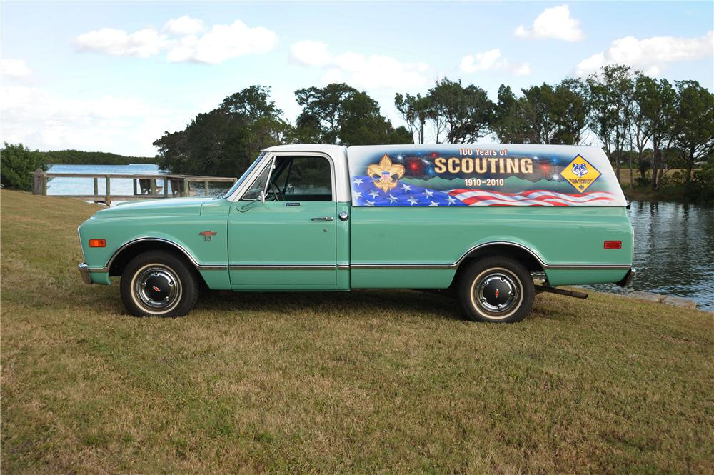 1968 CHEVROLET CUSTOM LWB PICKUP - Side Profile - 82193