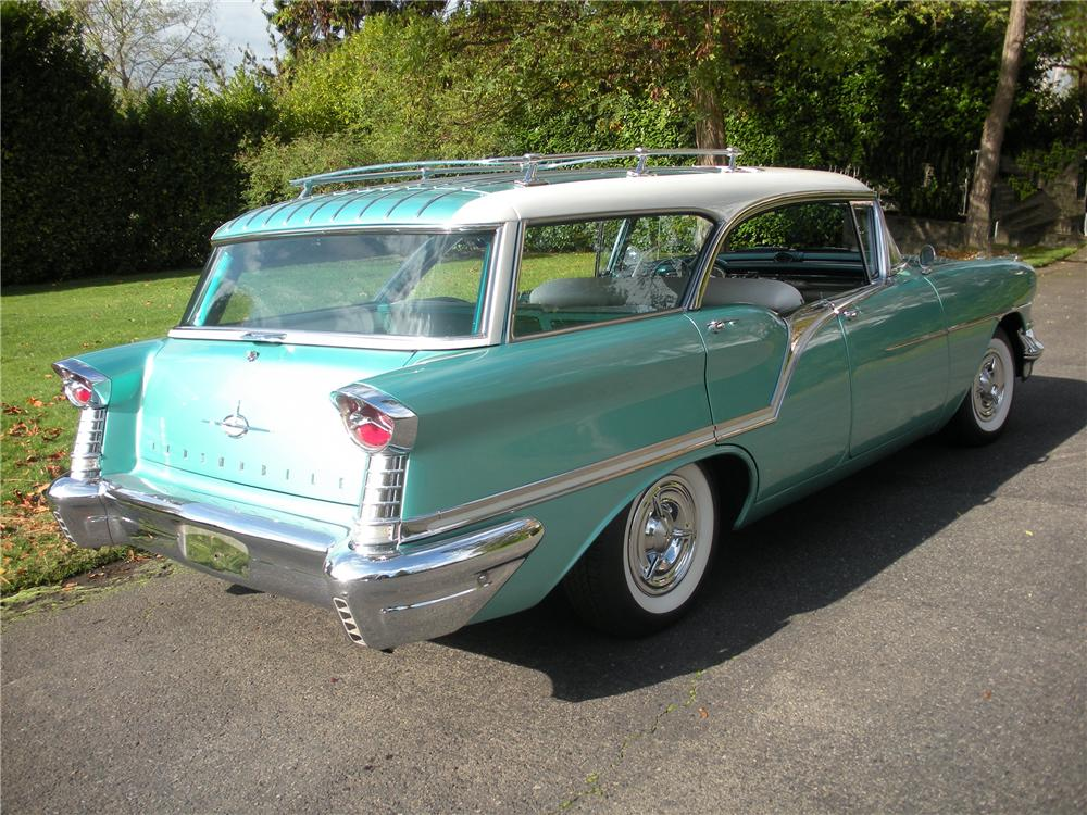 1957 OLDSMOBILE SUPER 88 FIESTA WAGON - Rear 3/4 - 82231