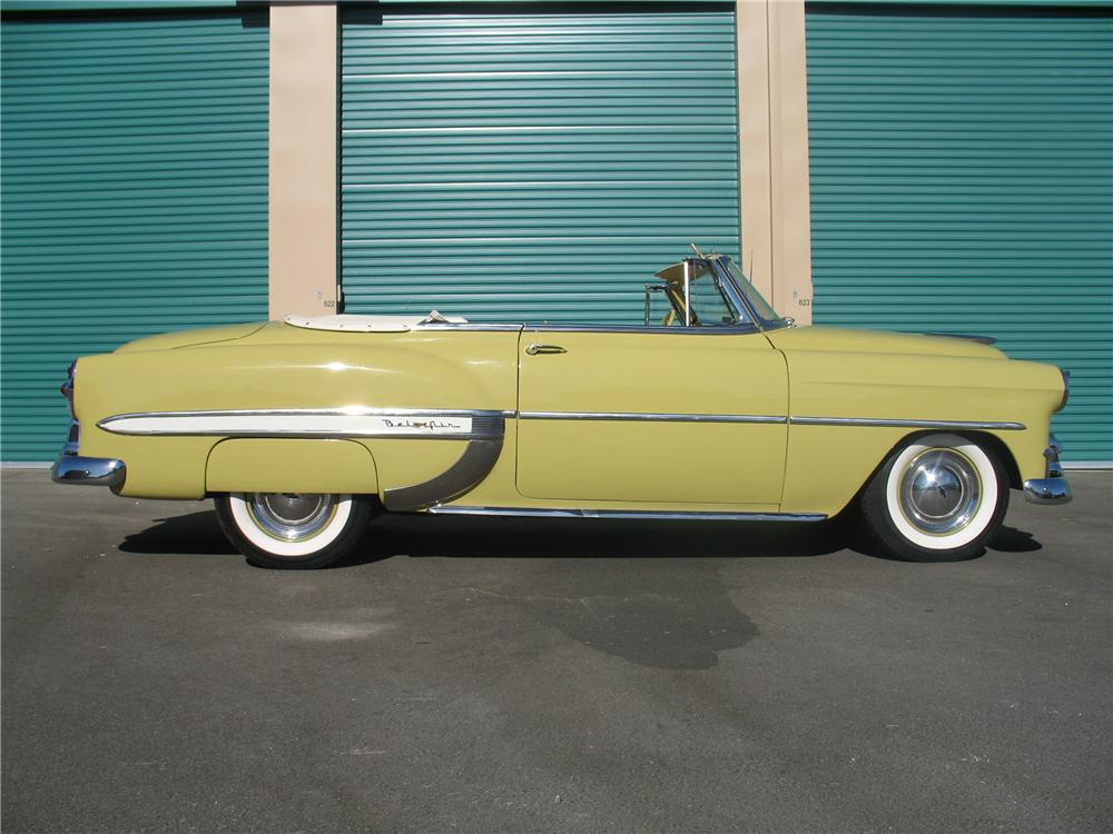 1953 CHEVROLET BEL AIR CONVERTIBLE - Side Profile - 82247