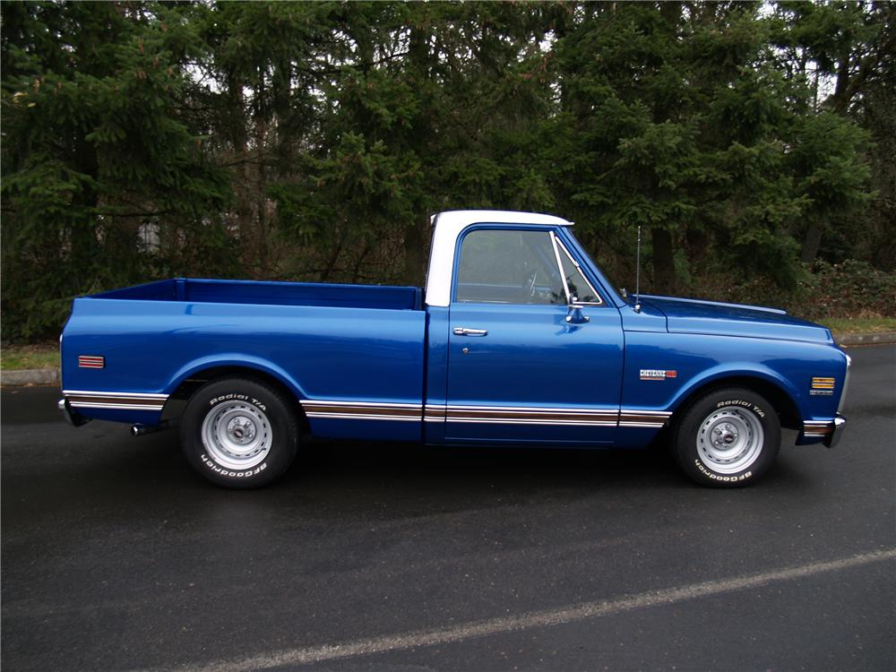 1971 CHEVROLET CHEYENNE SUPER PICKUP - Side Profile - 82291