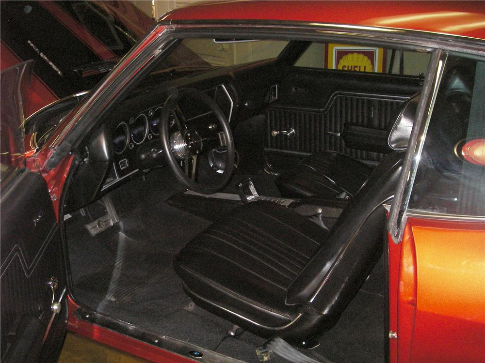 1971 CHEVROLET CHEVELLE SS 454 CUSTOM 2 DOOR HARDTOP - Interior - 82304