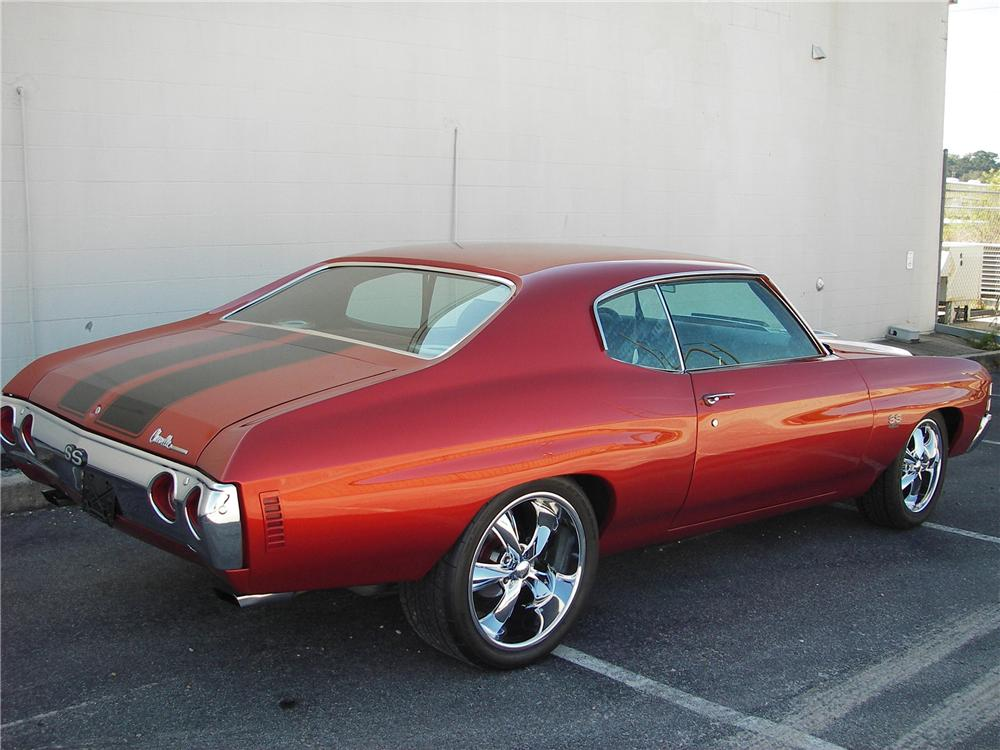 1971 CHEVROLET CHEVELLE SS 454 CUSTOM 2 DOOR HARDTOP - Rear 3/4 - 82304