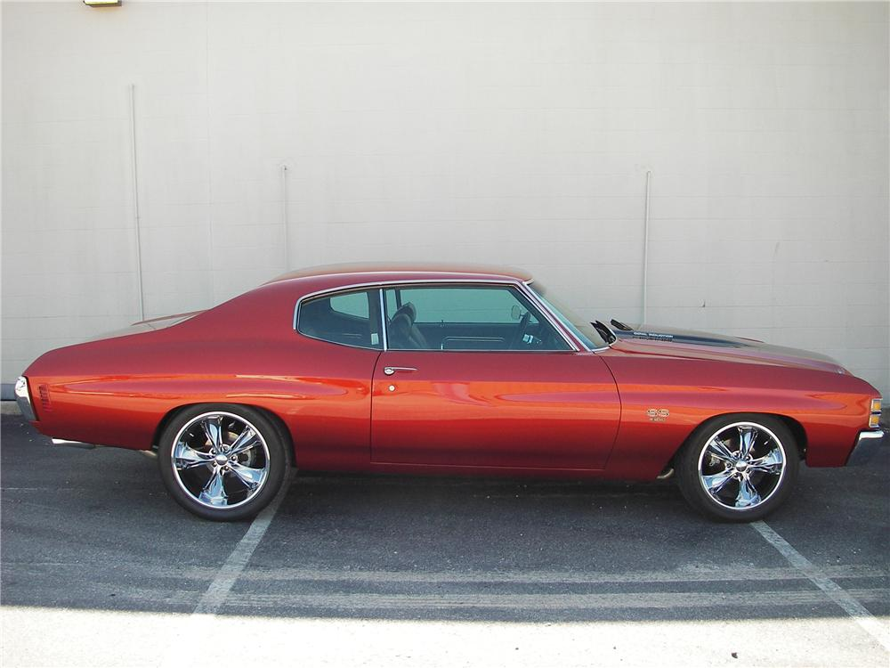 1971 CHEVROLET CHEVELLE SS 454 CUSTOM 2 DOOR HARDTOP - Side Profile - 82304