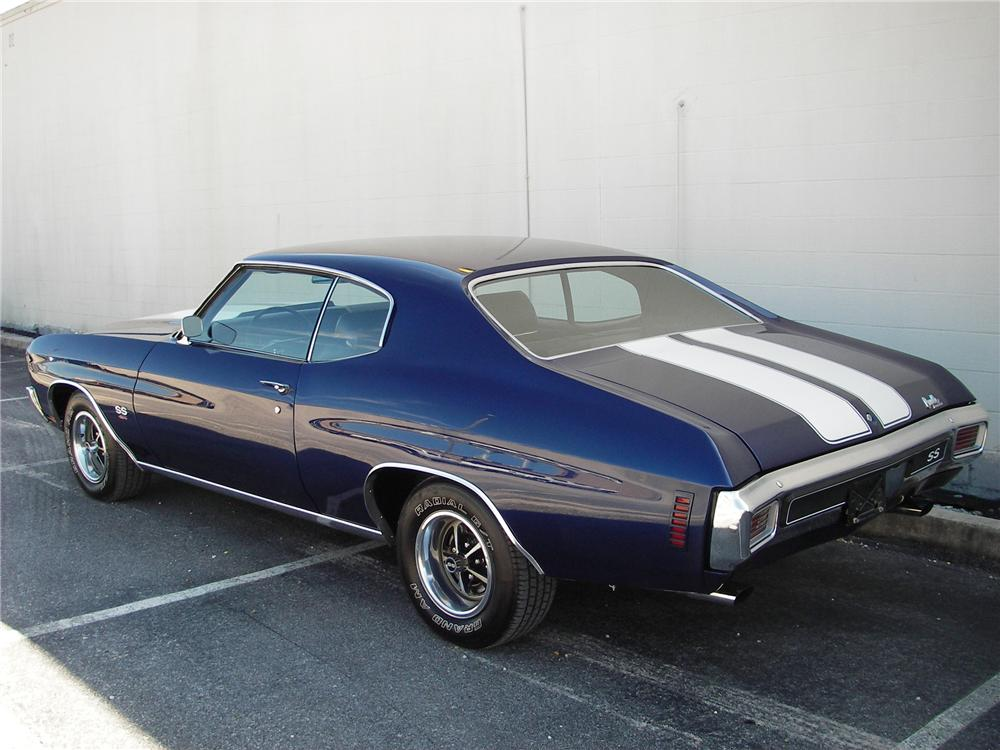 1970 CHEVROLET CHEVELLE HARDTOP SS 454 RE-CREATION - Rear 3/4 - 82305