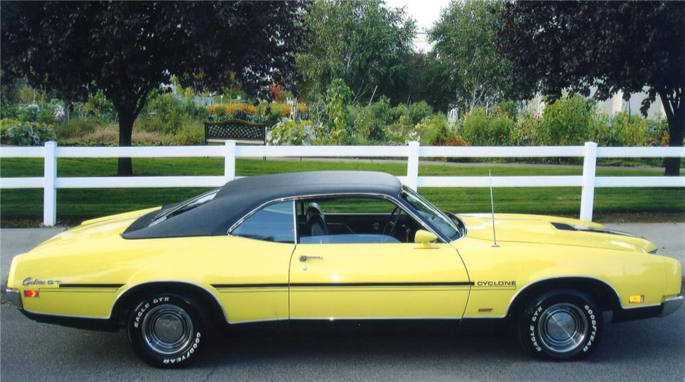 1970 MERCURY CYCLONE GT 2 DOOR HARDTOP - Side Profile - 82362
