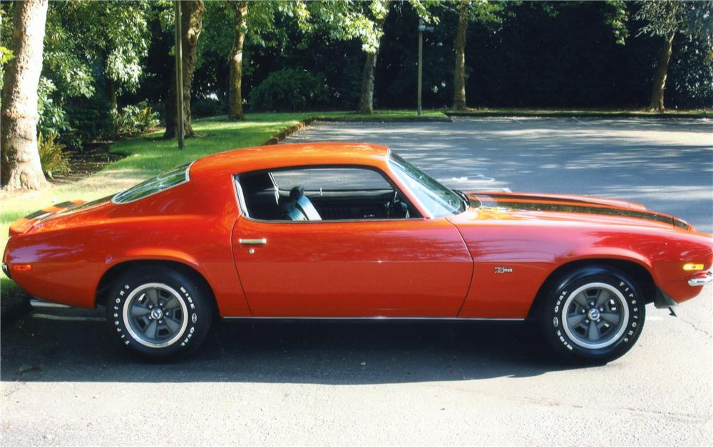 1970 CHEVROLET CAMARO Z/28 COUPE - Side Profile - 82363