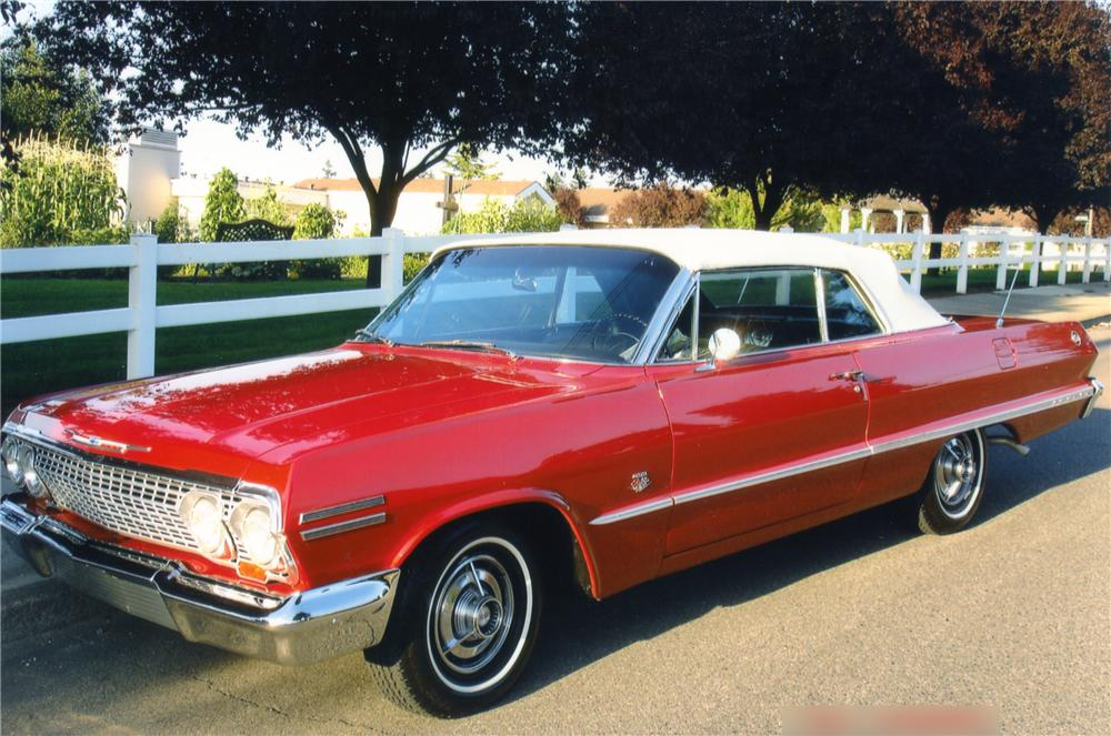 1963 CHEVROLET IMPALA SS CONVERTIBLE - Front 3/4 - 82365