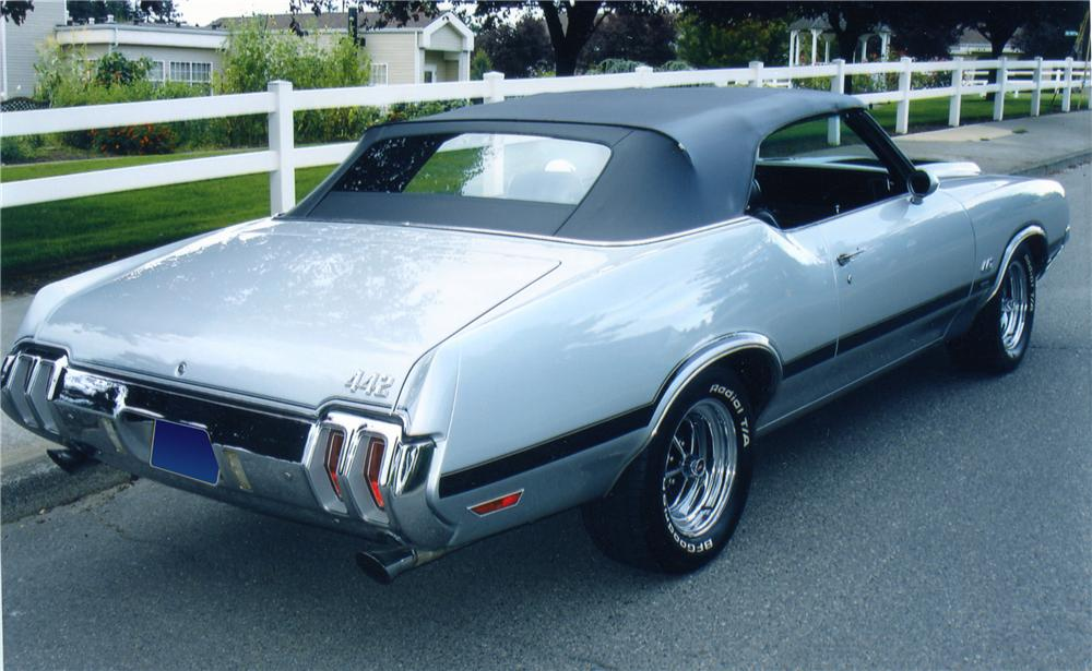 1970 OLDSMOBILE 442 W30 CONVERTIBLE - Rear 3/4 - 82366