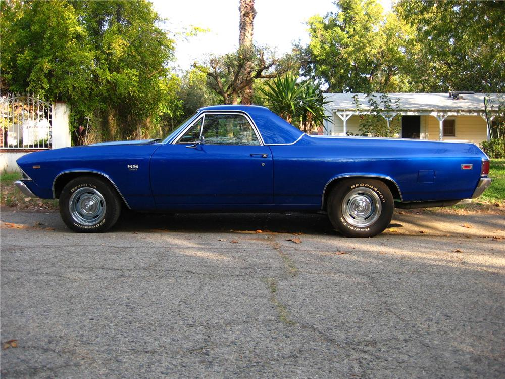 1969 CHEVROLET EL CAMINO PICKUP - Side Profile - 82374