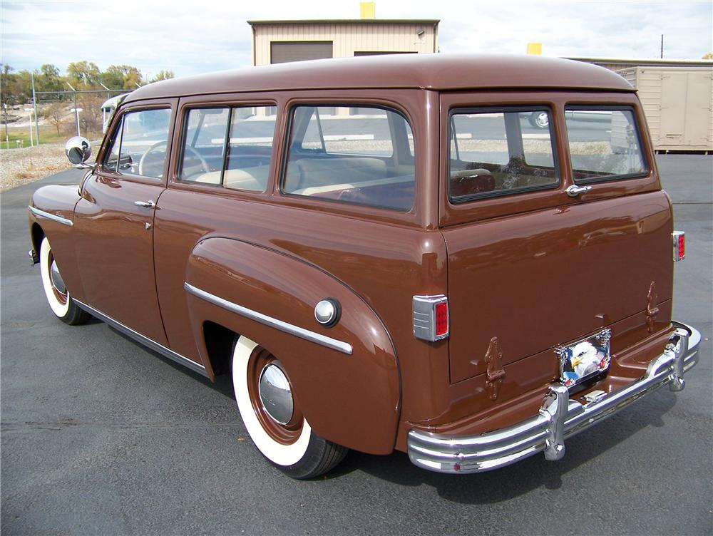 1949 PLYMOUTH SUBURBAN 2 DOOR WAGON - Rear 3/4 - 82439
