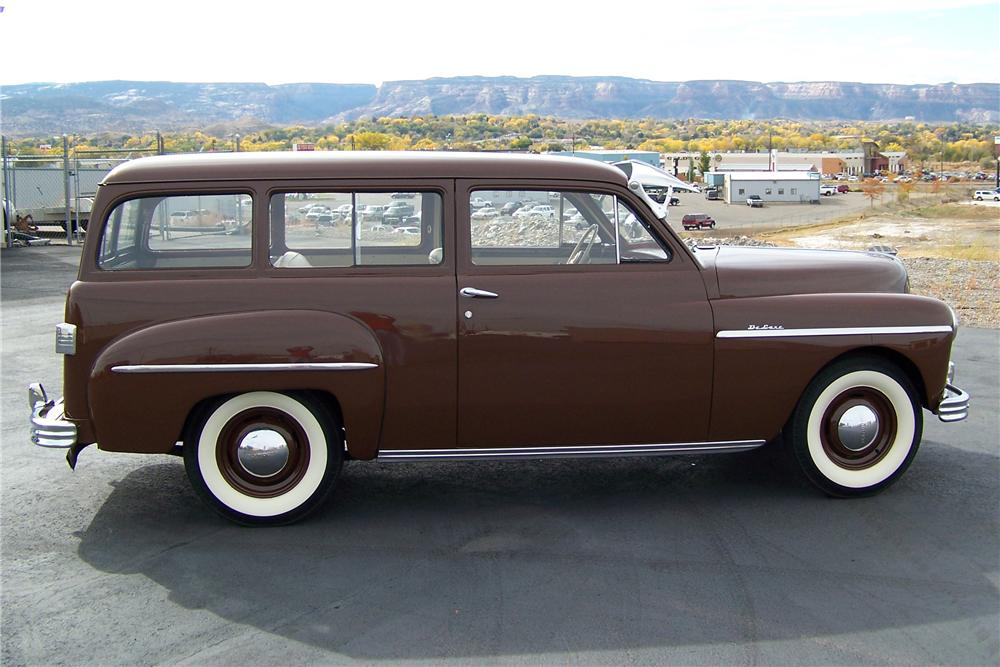 1949 PLYMOUTH SUBURBAN 2 DOOR WAGON - Side Profile - 82439
