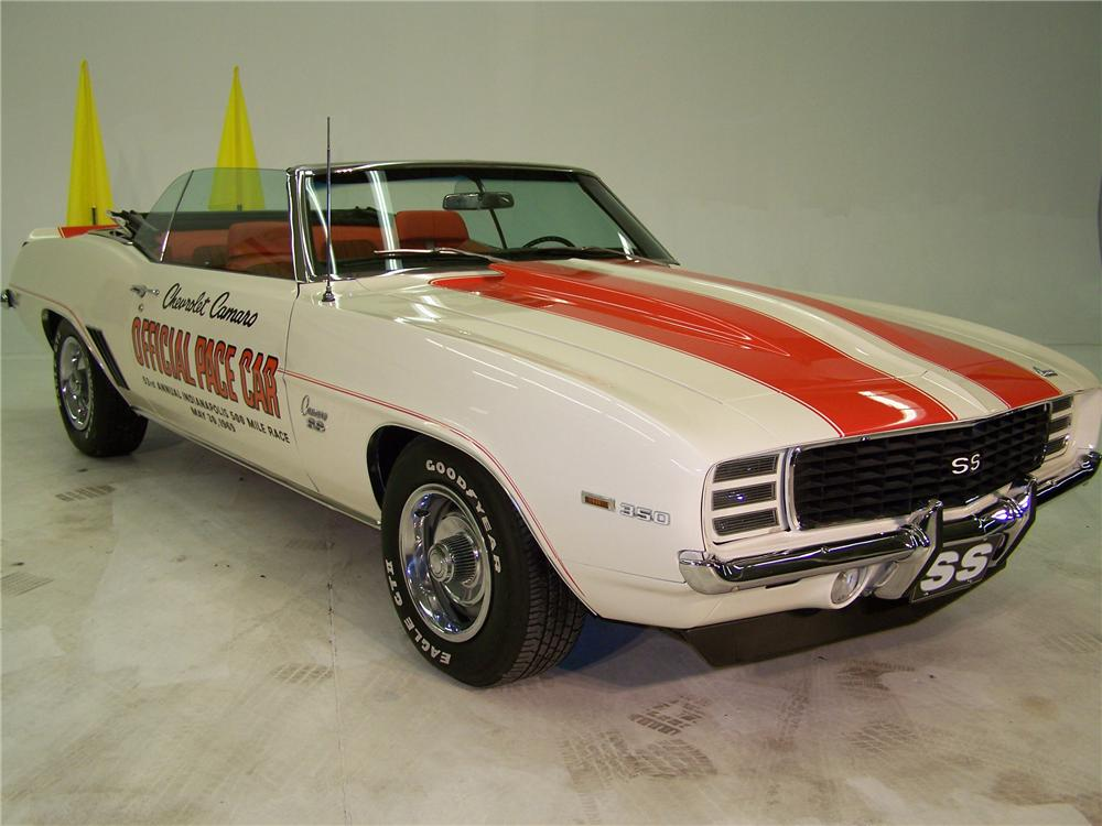 1969 CHEVROLET CAMARO INDY PACE CAR CONVERTIBLE - Front 3/4 - 82447