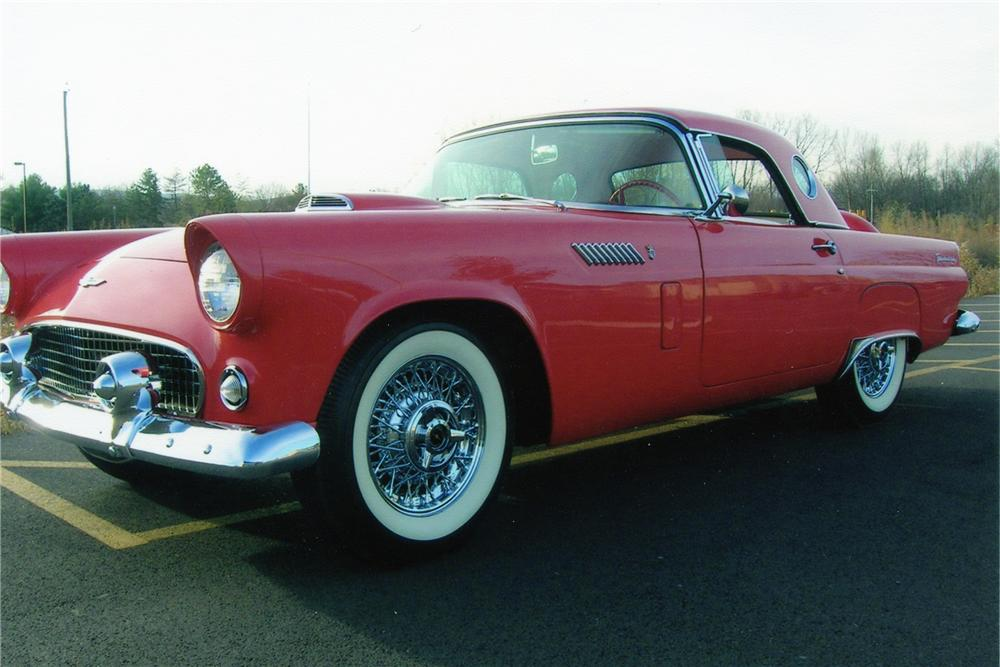 1956 FORD THUNDERBIRD CONVERTIBLE - Front 3/4 - 82492