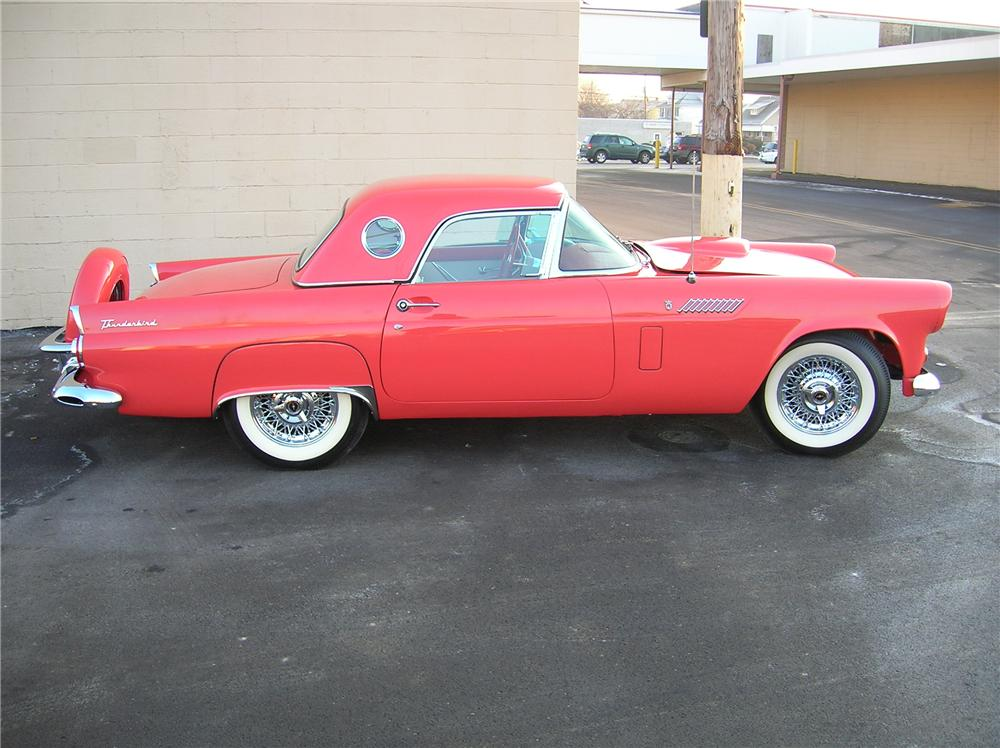 1956 FORD THUNDERBIRD CONVERTIBLE - Side Profile - 82492