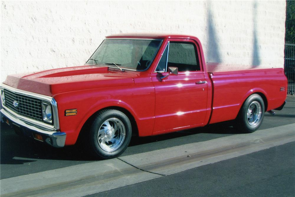 1971 CHEVROLET C-10 CUSTOM SWB PICKUP - Front 3/4 - 82494