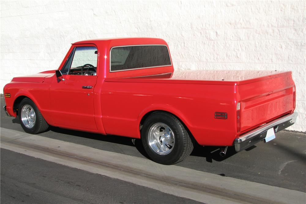 1971 CHEVROLET C-10 CUSTOM SWB PICKUP - Rear 3/4 - 82494