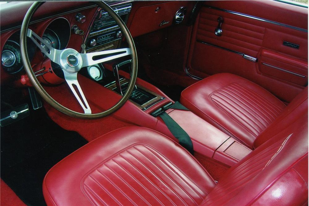 1968 CHEVROLET CAMARO CONVERTIBLE - Interior - 82495