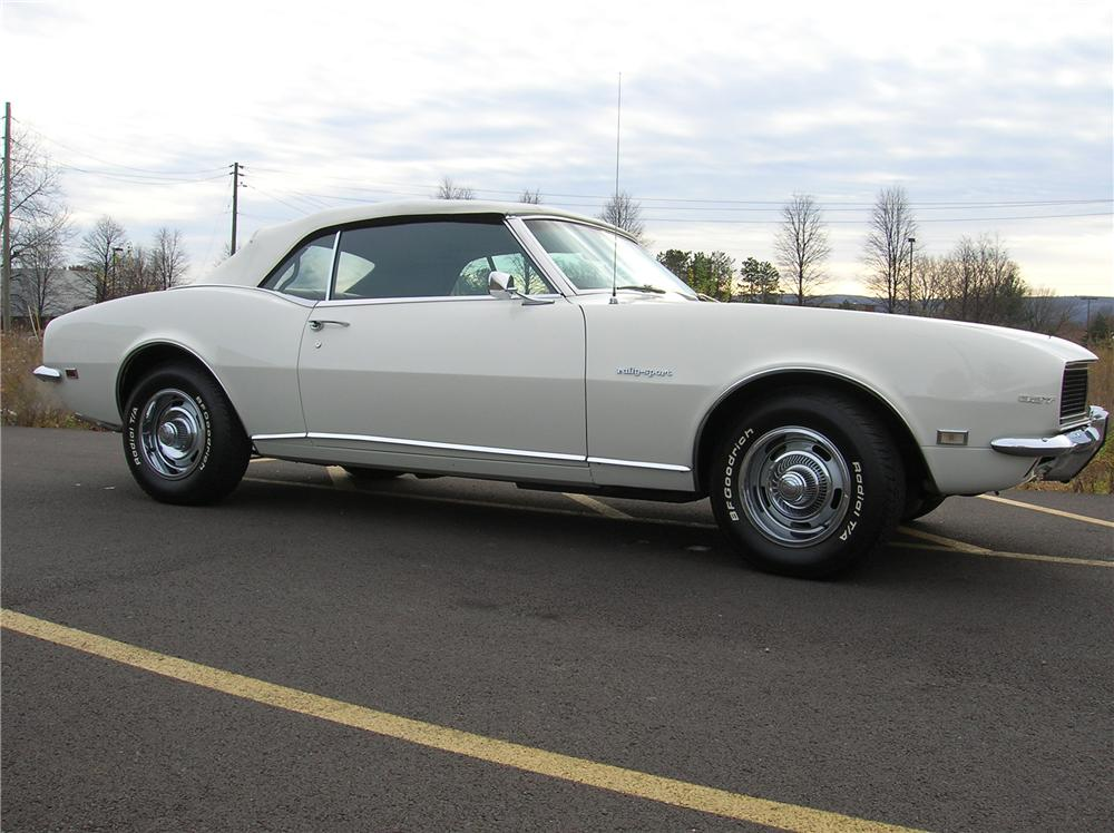 1968 CHEVROLET CAMARO CONVERTIBLE - Side Profile - 82495