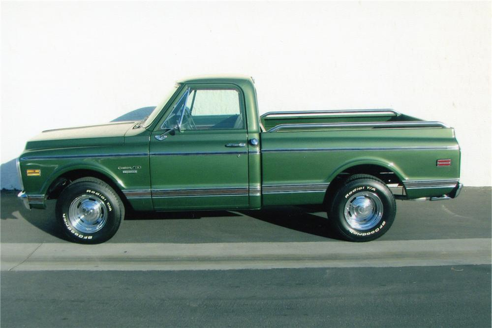 1970 CHEVROLET C-10 FLEETSIDE SHORTBOX PICKUP - Side Profile - 82496