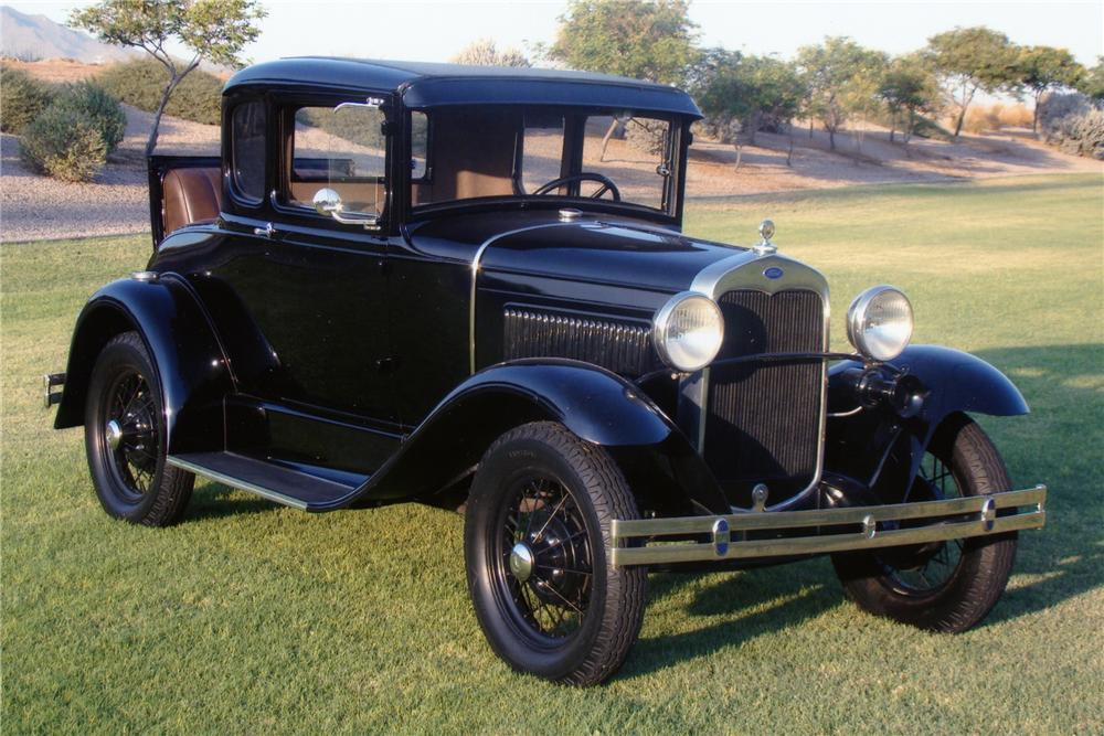 "1930 FORD MODEL A COUPE ""USED BY JOHN DILLINGER"" - Front 3/4 - 82583"