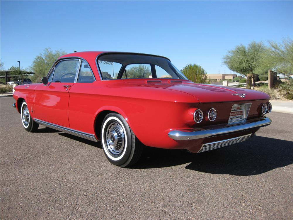 1963 CHEVROLET CORVAIR MONZA COUPE - Rear 3/4 - 82603