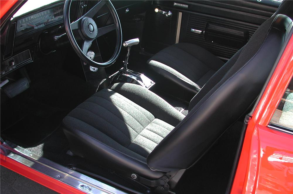 1971 CHEVROLET NOVA CUSTOM 2 DOOR COUPE - Interior - 82604