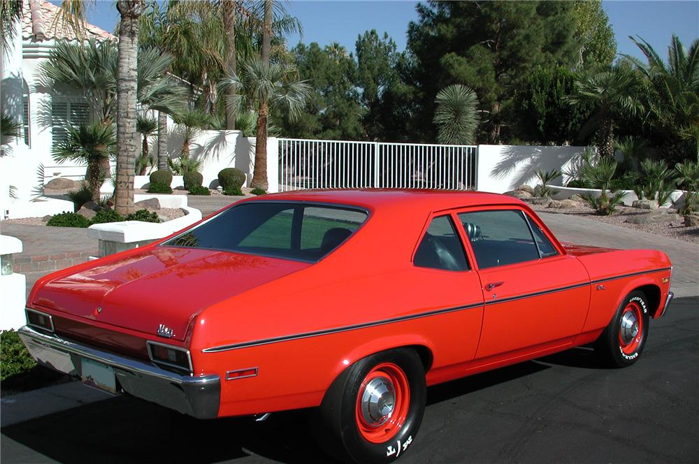 1971 CHEVROLET NOVA CUSTOM 2 DOOR COUPE - Rear 3/4 - 82604