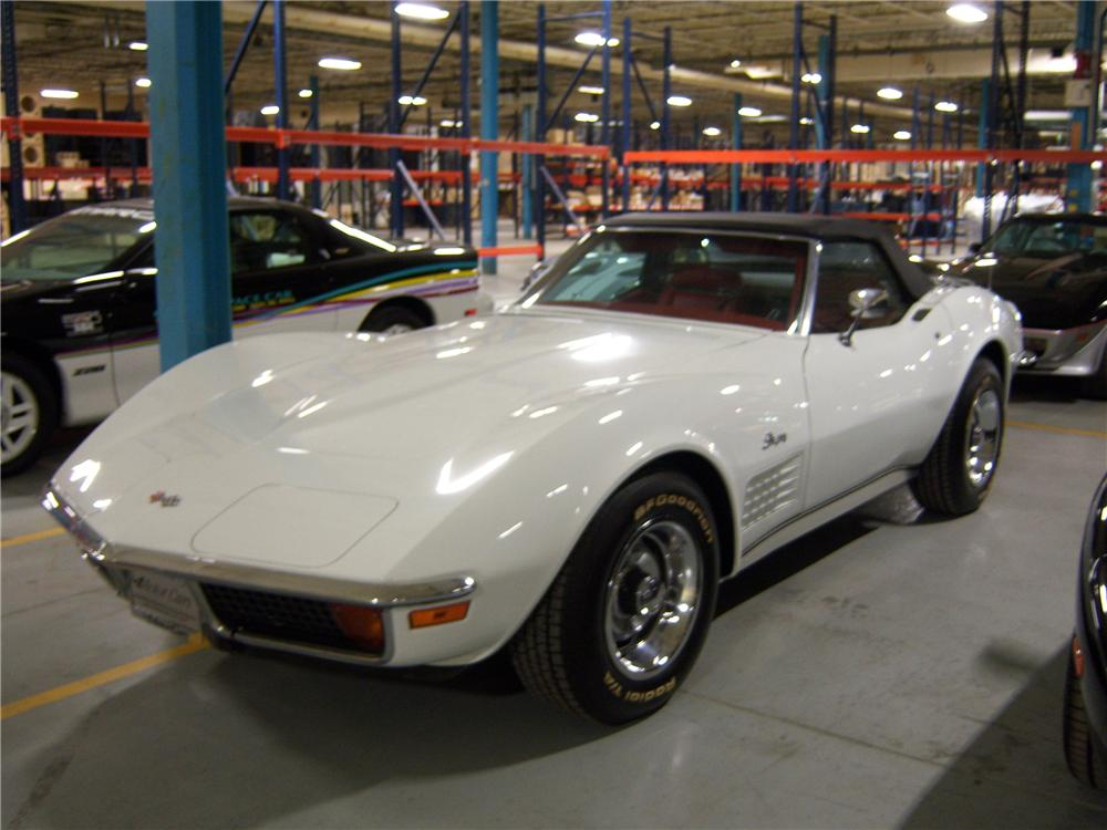 1972 CHEVROLET CORVETTE CONVERTIBLE - Front 3/4 - 82646