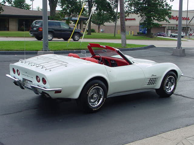 1972 CHEVROLET CORVETTE CONVERTIBLE - Rear 3/4 - 82646