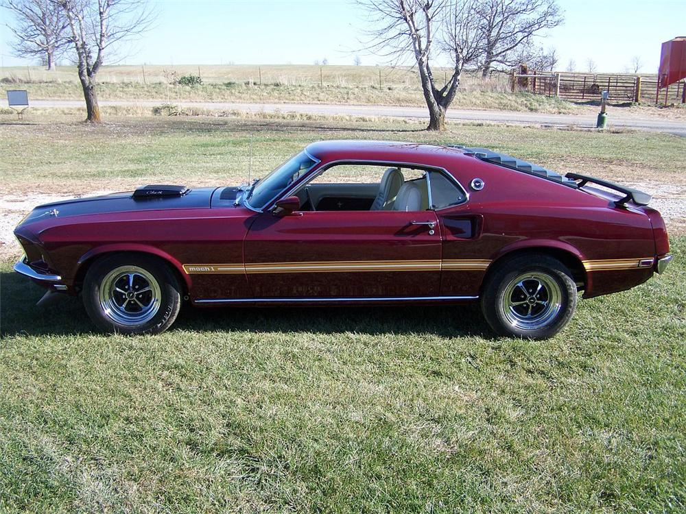"""1969 FORD MUSTANG 428 CJ """"R"""" FASTBACK - Side Profile - 82649"""