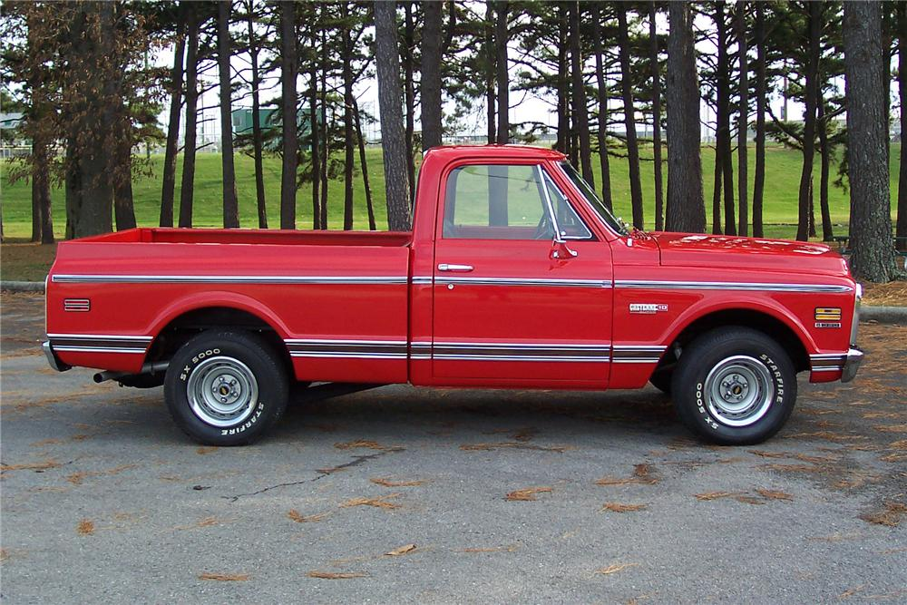 1971 CHEVROLET CHEYENNE SUPER 10 PICKUP - Side Profile - 82651