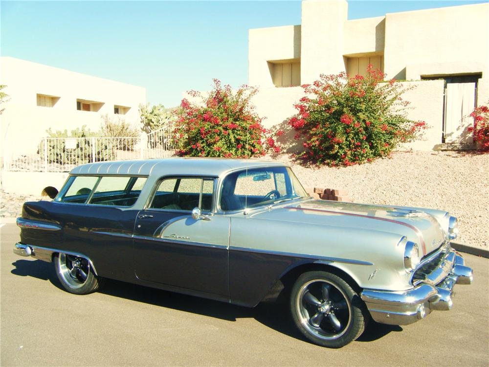 1956 PONTIAC SAFARI CUSTOM 2 DOOR WAGON - Front 3/4 - 82683