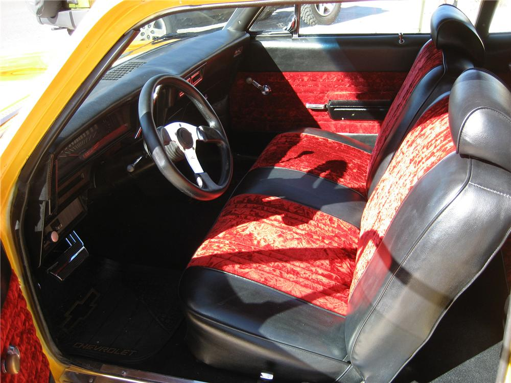 1971 CHEVROLET NOVA CUSTOM 2 DOOR COUPE - Interior - 82733