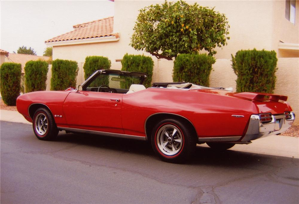 1969 PONTIAC GTO CONVERTIBLE - Rear 3/4 - 82738