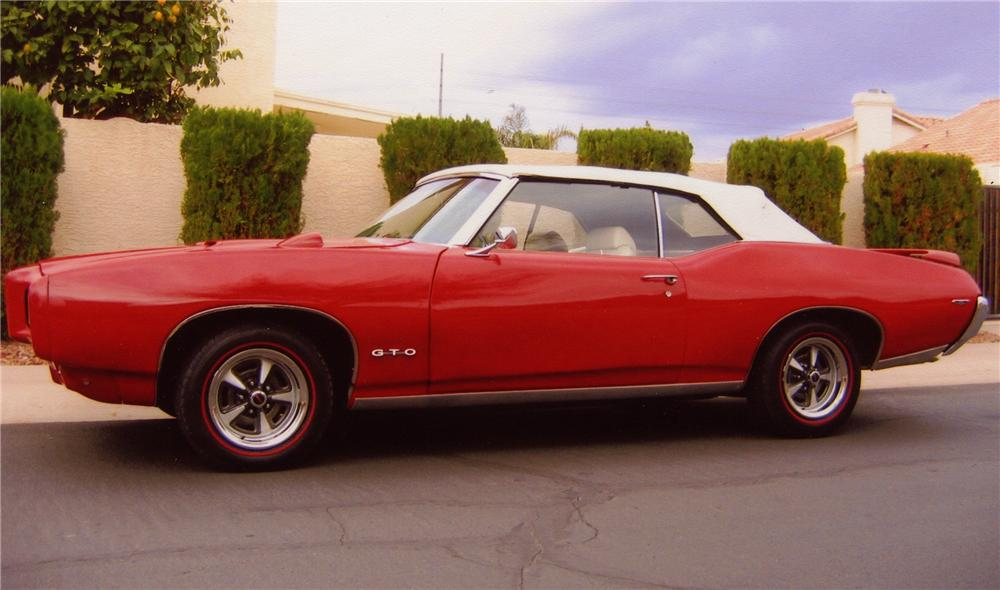 1969 PONTIAC GTO CONVERTIBLE - Side Profile - 82738