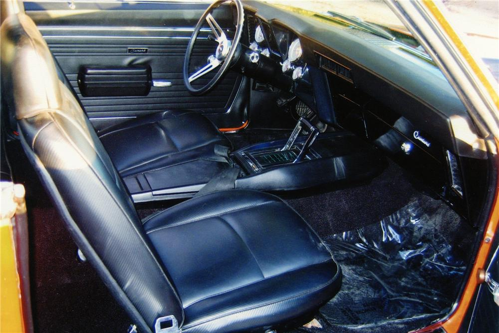 1969 CHEVROLET CAMARO CUSTOM COUPE - Interior - 82741