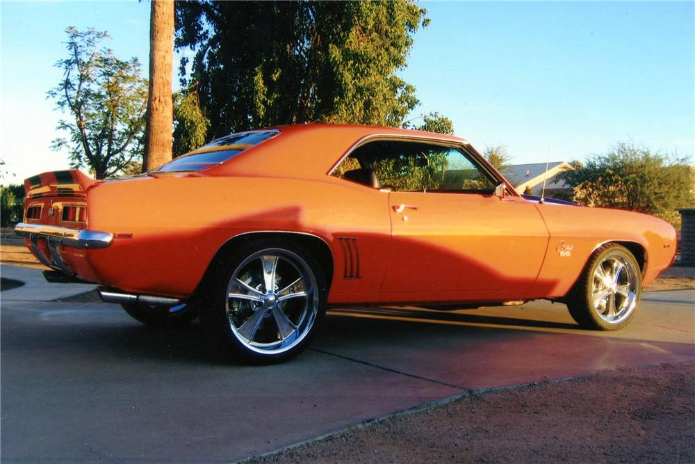 1969 CHEVROLET CAMARO CUSTOM COUPE - Side Profile - 82741