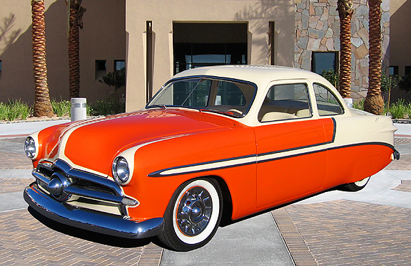 """1949 FORD CUSTOM COUPE """"LUCILLE"""" - Front 3/4 - 82800"""