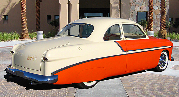 """1949 FORD CUSTOM COUPE """"LUCILLE"""" - Rear 3/4 - 82800"""