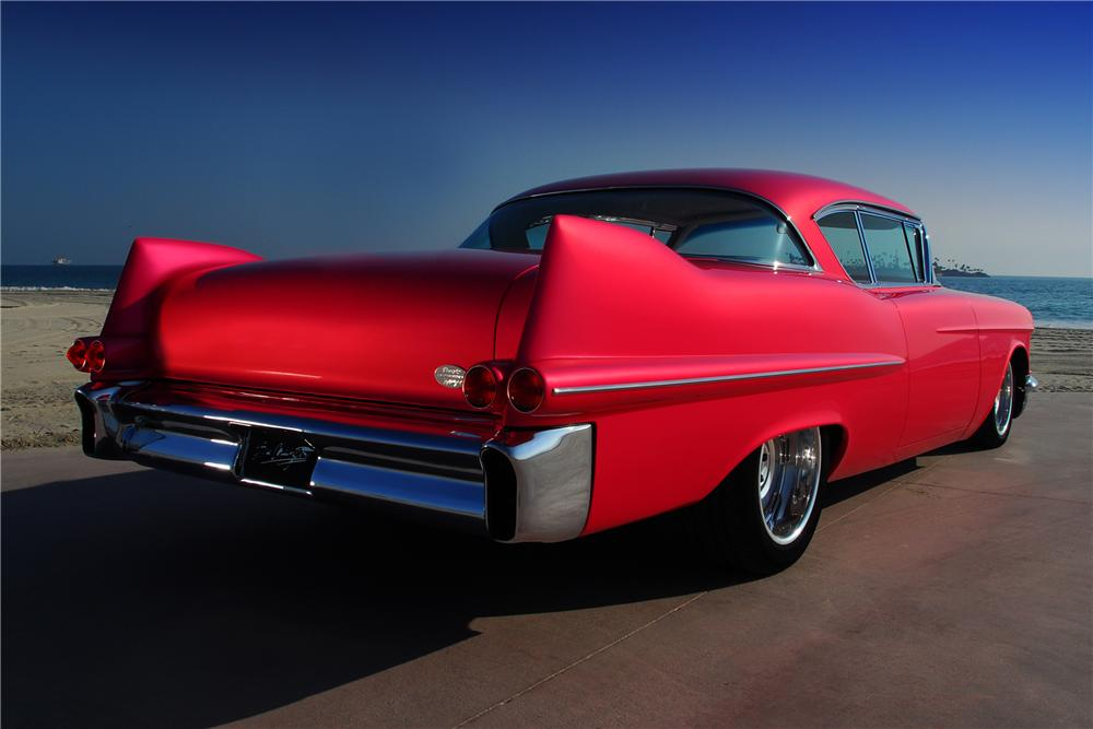 1957 CADILLAC SERIES 62 CUSTOM 2 DOOR HARDTOP - Rear 3/4 - 83214
