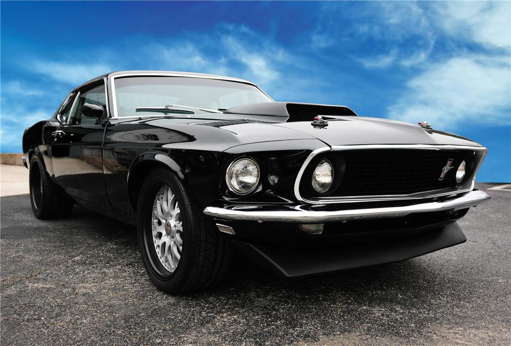 1969 FORD MUSTANG CUSTOM FASTBACK - Front 3/4 - 83233
