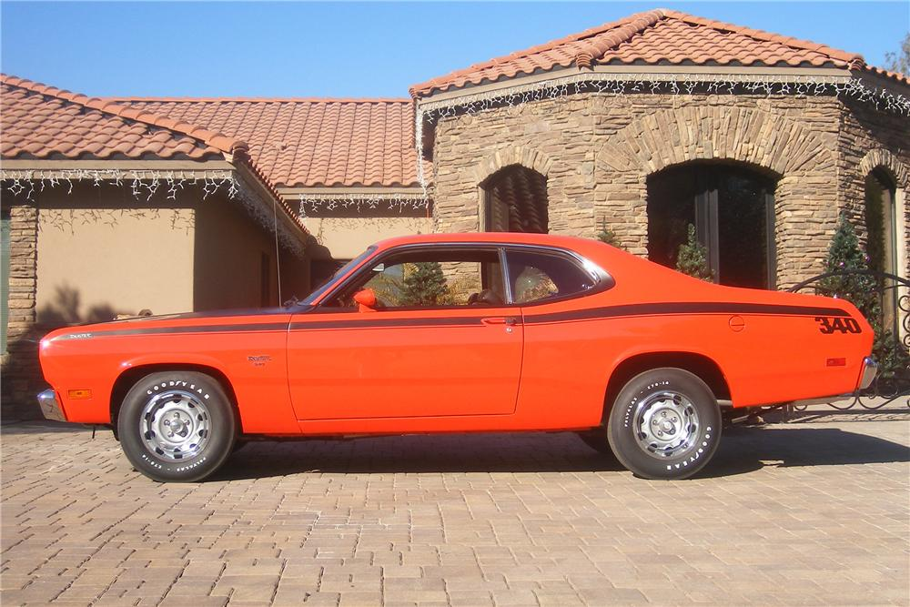 1970 PLYMOUTH DUSTER 2 DOOR HARDTOP - Side Profile - 84493