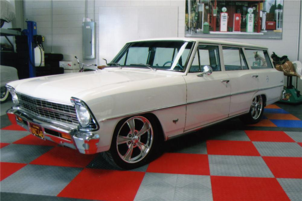 1967 CHEVROLET NOVA STATION WAGON - Side Profile - 88824