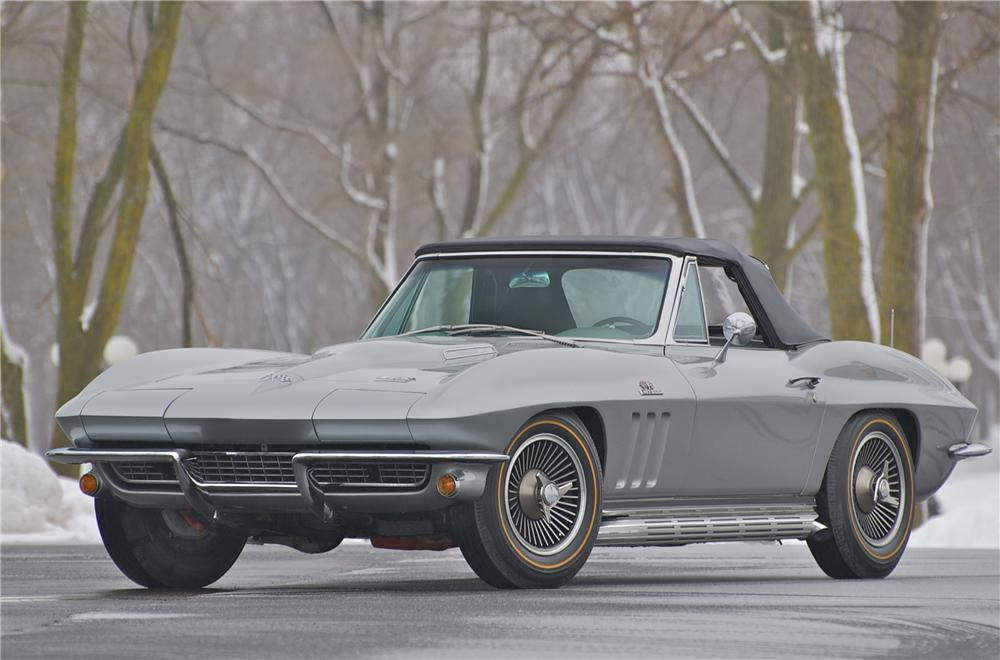 1966 CHEVROLET CORVETTE CONVERTIBLE - Front 3/4 - 88830
