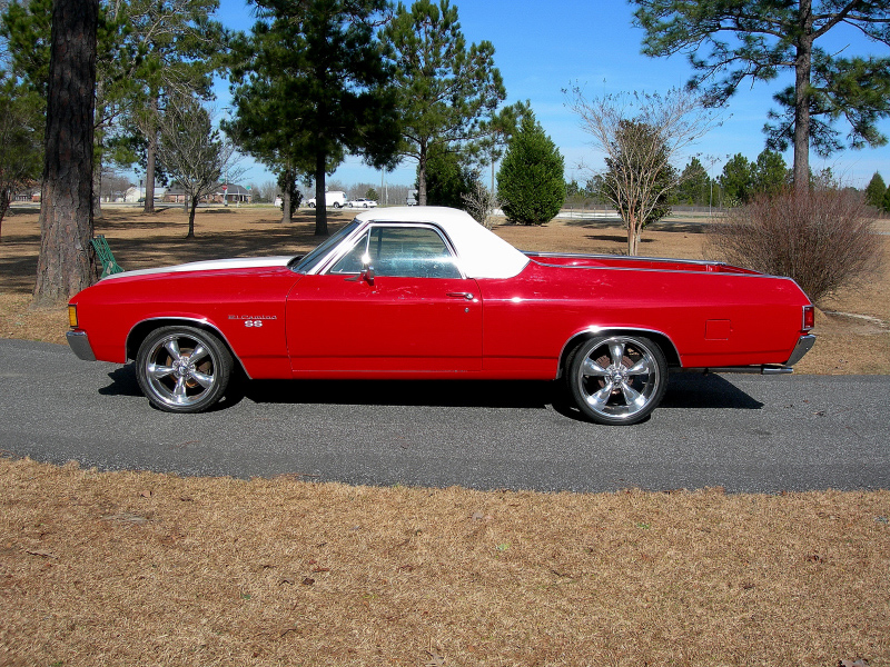 1972 CHEVROLET EL CAMINO 2 DOOR PICKUP - Side Profile - 88837