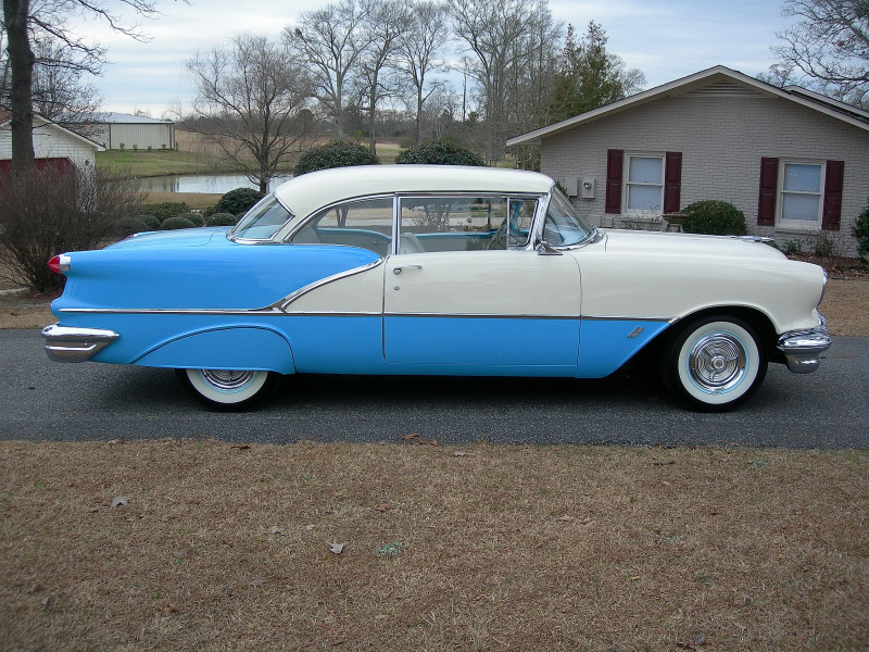 1956 OLDSMOBILE 88 2 DOOR HARDTOP - Side Profile - 88839
