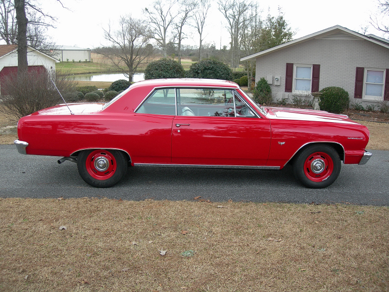 1964 CHEVROLET CHEVELLE MALIBU 2 DOOR HARDTOP - Side Profile - 88841