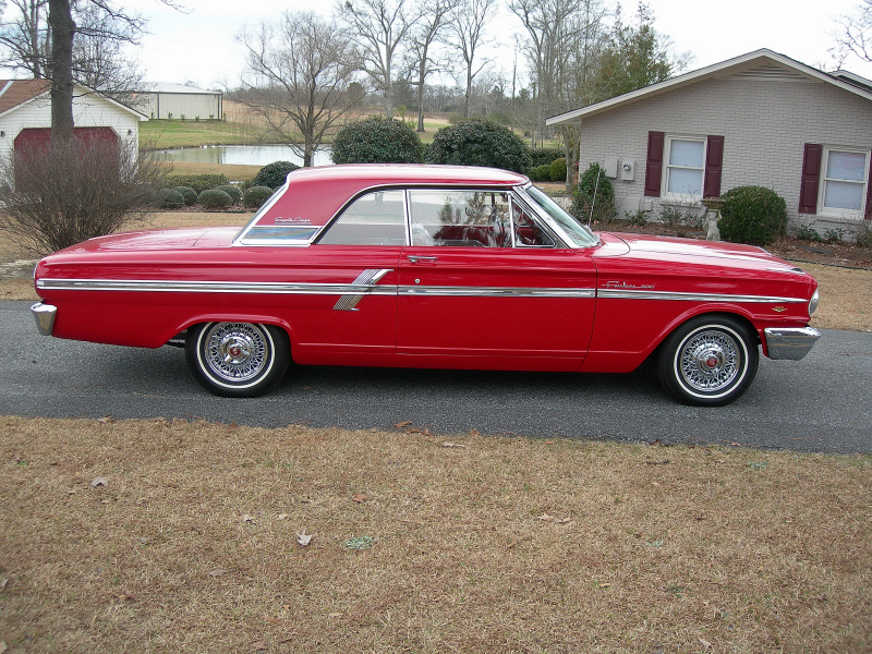 1964 FORD FAIRLANE 2 DOOR HARDTOP COUPE - Side Profile - 88842